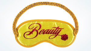 Disney Parks TAG Collection Beauty & the Beast Sleep Eye Mask New with Card