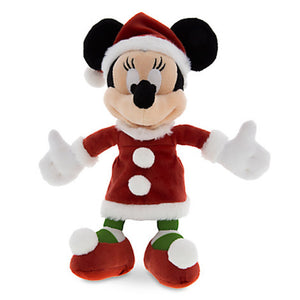 "Disney Parks Santa Minnie Mouse Christmas 7"" Plush New with Tags"