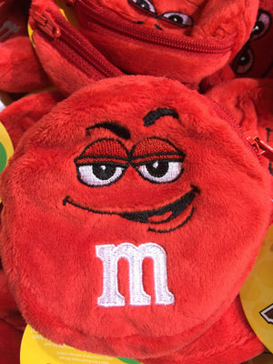 M&M's World Red Character Coin Purse Plush New with Tags