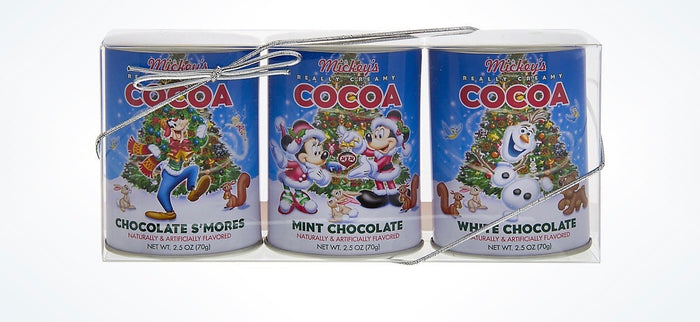 Disney Parks Holiday Mickey & Friends Cocoa 3 Packs New with Box