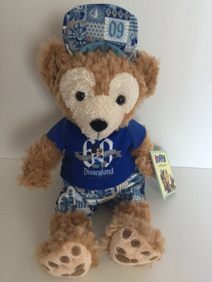 "Disney Disneyland Duffy the Disney Bear 12"" 60th Celebration Plush New with Tags"