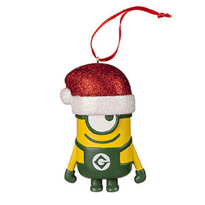 Universal Studios Despicable Me The Minion Ornament With Santa Hat New with Tags
