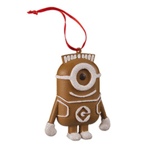 Universal Studios Despicable Me The Minion Gingerbread Ornament New with tag