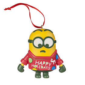 Universal Studios Despicable Me Minion Ornament With Sweater New with tag
