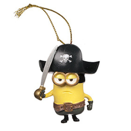 Universal Studios Despicable Me The Minion Pirate Ornament New with tag