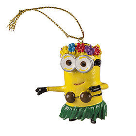 Universal Studios Despicable Me The Minion Hula Ornament New with tag