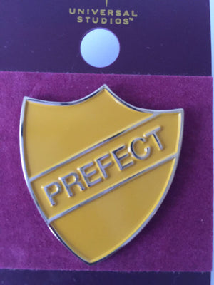 Universal Studios Wizarding World of Harry Potter Hufflepuff Prefect Pin New with Card