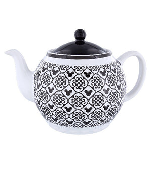 Disney Parks Mickey Icon Black Teapot New