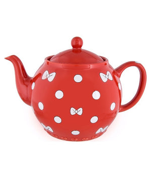 Disney Parks Minnie Bows and Dots Teapot New