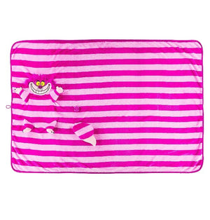 Disney Parks Cheshire Cat Plush Blanket New with Tag