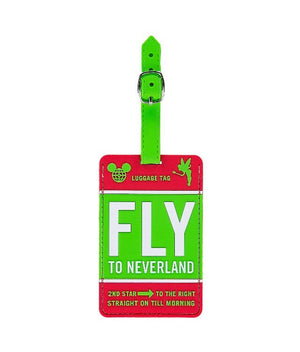 Disney Parks Disneyland Luggage Tag Green New with Tag