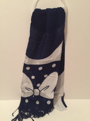 Disney Parks Minnie Mouse Blue Sarf New with Tag