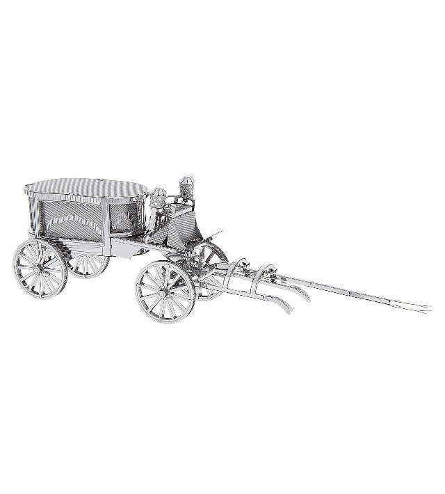 Disney Parks Haunted Mansion Hearse Metal Model Kit 3D New