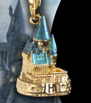 Harry Potter Lumos Charm Hogwarts Castle Gold Planted New with Box