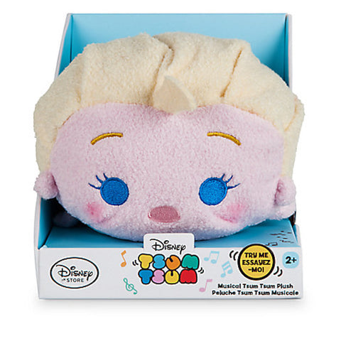 "Disney Store Frozen Elsa Musical 7"" Tsum Plush New with Box"