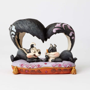 Jim Shore Looney Tunes Pepe Le Pew and Penelope Resin Figurine New with Box