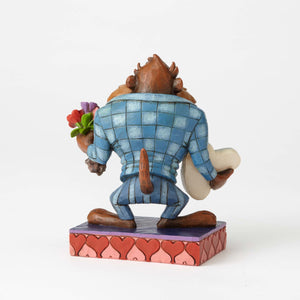 Jim Shore Looney Tunes Valentine Date Night with Taz Resin Figurine New with Box