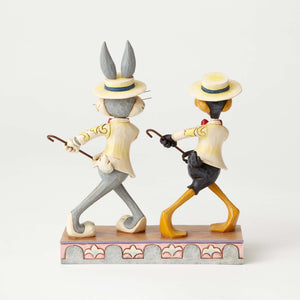Jim Shore Looney Tunes Bugs Bunny & Daffy Duck Resin Figurine New with Box