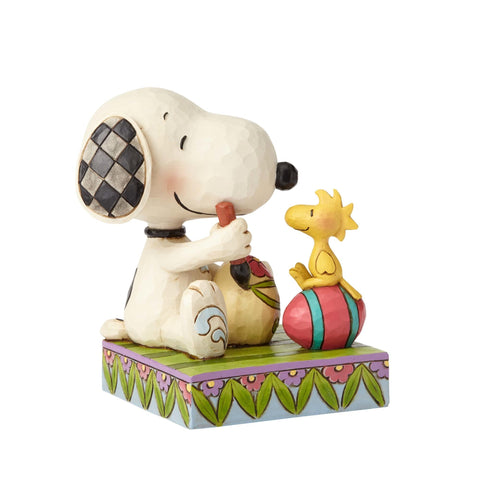 Jim Shore Peanuts Snoopy Woodstock with Easter Eggs Resin Figurine New with Box