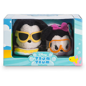 Disney Store Mickey & Minnie Hawaii Set Mini Tsum New with Box