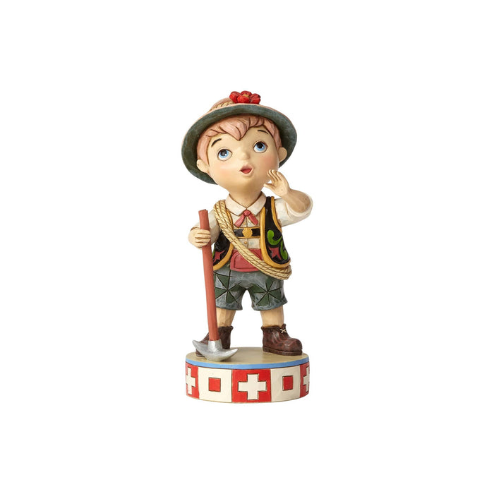 Disney Jim Shore It's a Small World Switzerland Musical Figurine New with Box