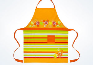 Disney Parks Mickey Mouse Icon Citrus Cotton Adult Apron New with Tags