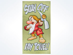 Disney Parks Grumpy Stay Off My Towel Beach Towel New with Tags