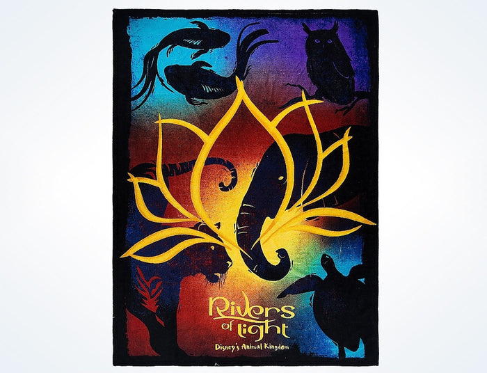 Disney Parks Animal Kingdom Rivers of Light Fleece Throw Blanket New with Tags