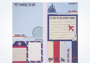 Disney Parks TAG Collection Mickey & Friends Travel Sticky Note Set New