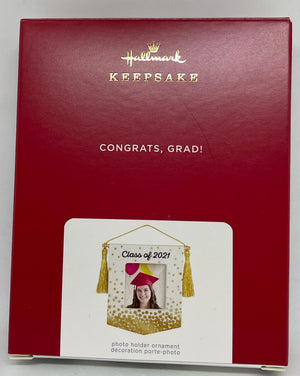 Hallmark Congrats, Grad! Class of 2021 Porcelain Photo Frame Ornament New w Box