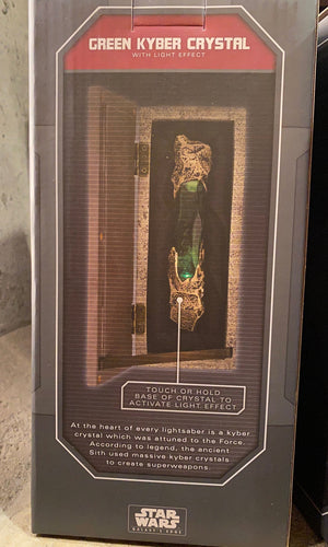 Disney Parks Star Wars Galaxy's Edge Green Kyber Crystal With Light Effect New