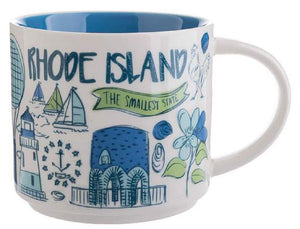 Starbucks Been There Series Collection Rhode Island Ceramic Coffee Mug New