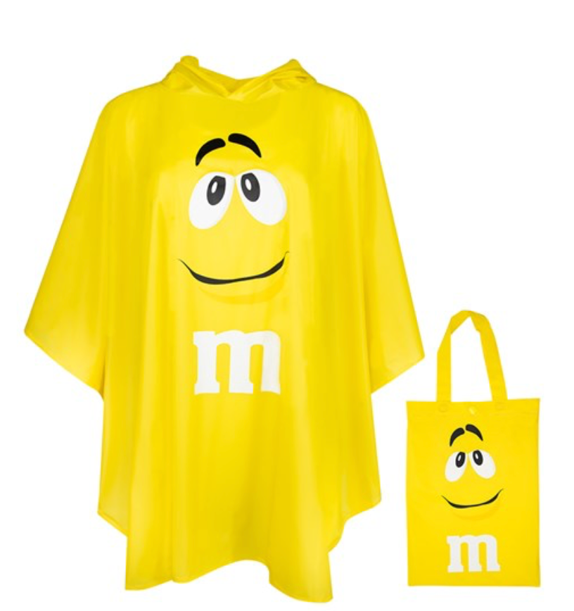 M M S World Yellow Characters Poncho In Tote Bag One Size New With