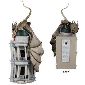 Universal Studios Harry Potter Resin Gringotts Bank With Dragon Statue New Box