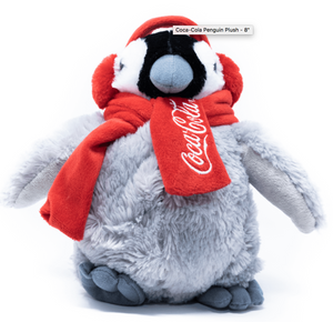 Authentic Coca-Cola Coke Penguin Plush 8 inc New with Tag