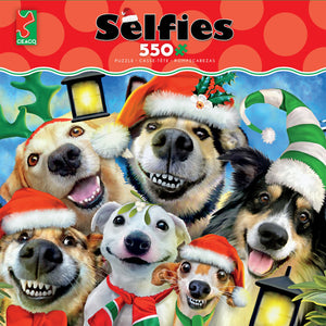Ceaco Selfies Christmas Pups Puppies 550 pcs Jigsaw Puzzle New with Box
