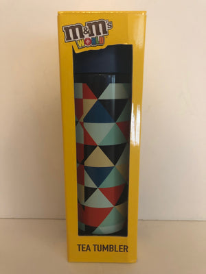 M&M's World Stainless Steel Tea Tumbler 10 oz New with Box