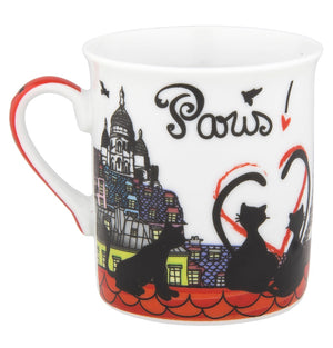 Disney Parks Epcot Paris Cats Porcelain Mini Mug New