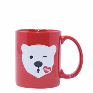 Authentic Coca Cola Coke Polar Bear Emoji Ceramic Coffee Mug New