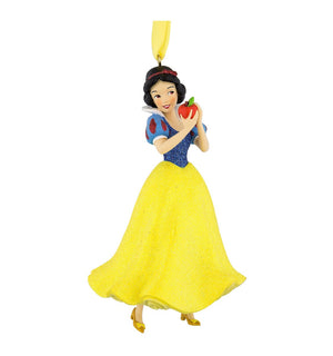 Disney Parks Snow White with Apple 3D Glitter Christmas Ornament New with Tags