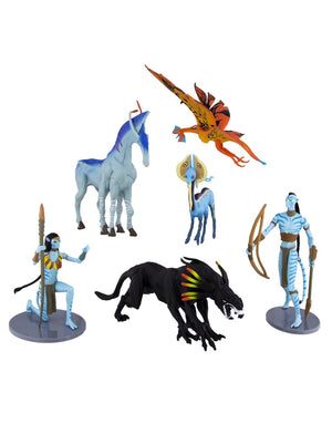 Disney Parks Pandora World Of Avatar Na'vi Collectible Figures Figurines Set 6