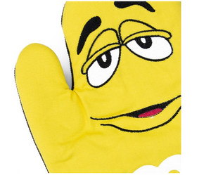 M&M's World Yellow Character Oven Mitt New with Tag