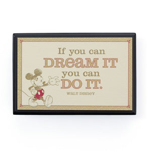 Hallmark Disney If You Can Dream It You Can Do It Small Plaque New