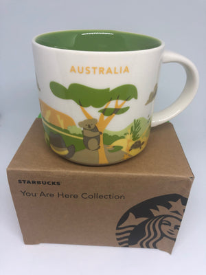 Starbucks You Are Here Collection Australia Ceramic Coffee Mug New Box