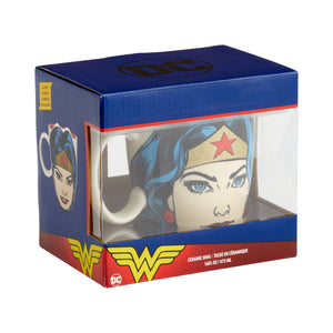 DC Comics by Our Name Is Mud Wonderwoman Glitter Sculpted Mug New with Box