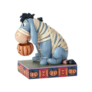 Disney Jim Shore Traditions Halloween Eeyore in Mummy Costume Figurine New w Box