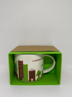 Starbucks Coffee You Are Cambridge Massachusetts Ceramic Coffee Mug New with Box