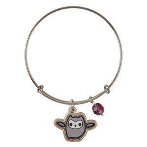 Universal Studios Harry Potter Pigwidgeon Silver Tone Charm Bangle New with Tag