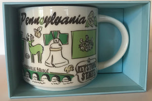 Starbucks Been There Series Collection Pennsylvania Coffee Mug New With Box