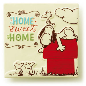 Hallmark Peanuts Snoopy Home Sweet Home Ceramic Tile New